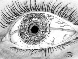 L'occhio meccanico dell'artista Patrick Connors