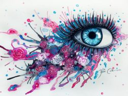 Occhi e cascate di colori: l'arte di Svenja Jodicke